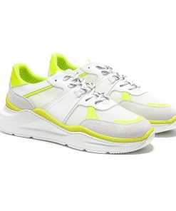 Chunky running shoes.